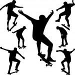 Skater silhouette vector — Stock Vector #6639561