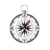 Silver compass — Stock Vector