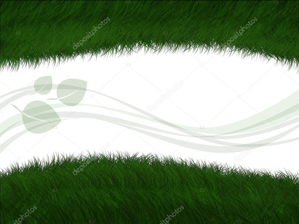 Green grass with decorative element — Stock Photo #6366137