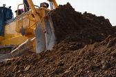 Bulldozer work close up — Stock Photo