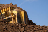 Bulldozer work close up — Stockfoto