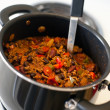 Chili in pot — Stock Photo