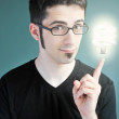 Young man with an idea — Stock Photo