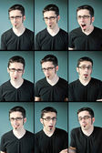 Young man expressions — Stock Photo