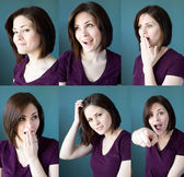 Young woman expressions — Stock Photo