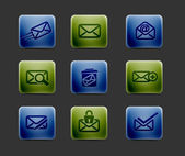 Email icon set — Stock Vector