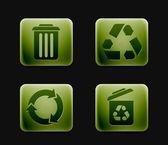 Conjunto de iconos de reciclaje — Vector de stock