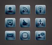 Vector icon set — Stock Vector