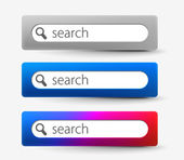 Web search bars — Stock Vector