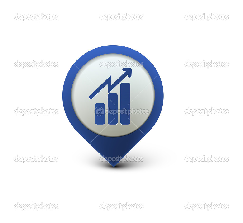 3d vector glossy business graph web icon design element.  Stock Vector #5418049