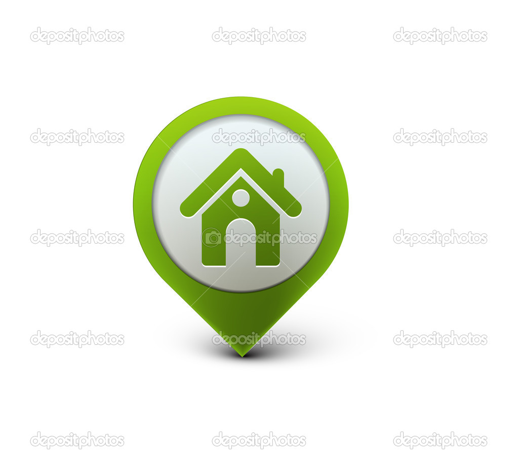 3d vector home icon design with isolated on white.  — ベクター素材ストック #5418052