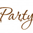 Chocolate party text — Stock Vector