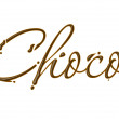 Chocolate choco text — Stock Vector #5471468
