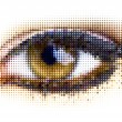 Human dots eye - Stock Vector