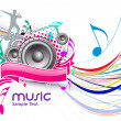 Stock Vector: Music event background