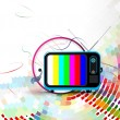 Vector television illustration - Vettoriali Stock 