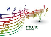 Musical notes background — Stock Vector