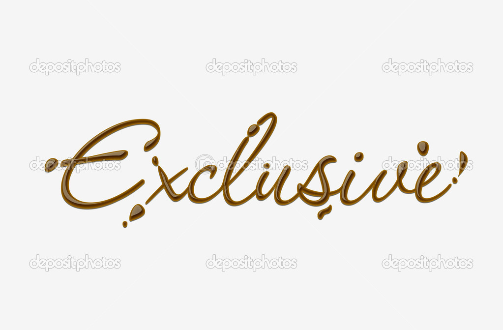 Exclusive Text Chocolate exclusive te...