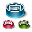 Stock Vector: Vector FM radio web icons