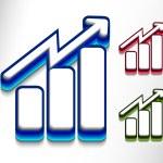 Business graph web icon — Stock Vector