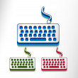 Computer keyboard Icon — Stock Vector
