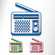 Glossy radio web icon — Stock Vector
