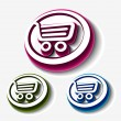 Shopping cart set, - Stock Vector