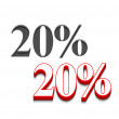 Vector 20% discount  design - Stock Vector