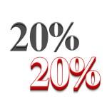 Vector 20% discount design — Stock Vector