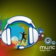 Stockvector : Music background