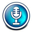 3d glossy mic icon - Stock Vector