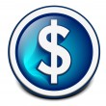 Glossy dollar icon — Stock Vector