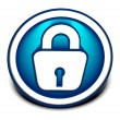 Royalty-Free Stock Vector Image: 3d glossy lock icon