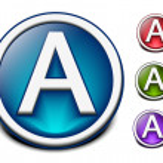 Glossy alphabet design — Stock Vector #5728618