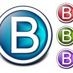Glossy alphabet design — Stock Vector #5728841