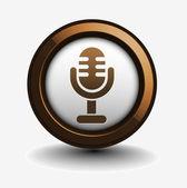 光泽 mic 的 3d 图标 — 图库矢量图片