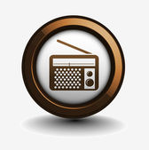Radio web icon — Stock Vector