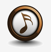 Music notes icon — Stock Vector