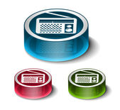 Vector FM radio web icons — Stock Vector