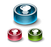 3d glossy idea web icon — Stock Vector