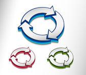 Recycle icon set — Stock Vector
