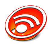 3d glossy rss icon — Stock Vector