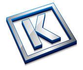 Glossy alphabet design — Stock Vector