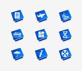 Vector travel icon set — Stock Vector