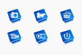 Multimedia symbol design — Stock Vector