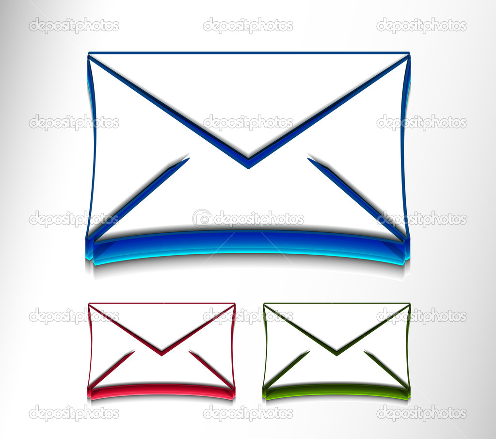 Vector email icon web design element set.  — Stock Vector #5726497