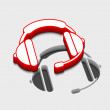 Headphones icon — Vettoriali Stock