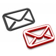 Vector email icon design — Stock Vector