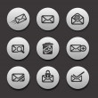 Royalty-Free Stock Vector Image: Set of Email Icons