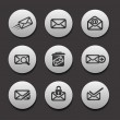 Stock Vector: Set of Email Icons